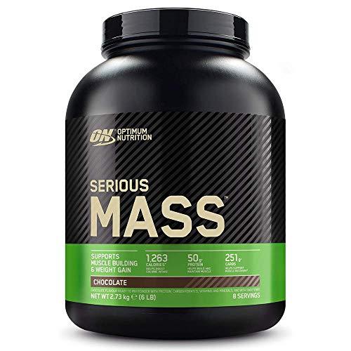 Optimum Nutrition Serio ganador de masa, polvo de proteína de suero para construir masa muscular con creatina, glutamina y vitaminas, chocolate, 8 porciones, 2,73 ...
