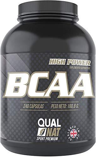 BCAA |  240 cápsulas |  para el entrenamiento y el desarrollo muscular |  suplemento deportivo de aminoácidos de cadena ramificada con vitaminas B2 y B6 |  ayuda a perder peso |  ...