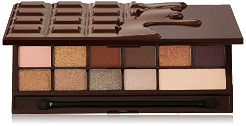 Paleta de maquillaje Makeup Revolution I Heart con sombras de ojos - Wonder Palette - Death by Chocolate, 22 g