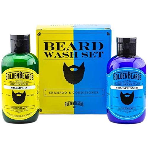 Shaving SHAMPOO and bálsamo Kit: la combinación perfecta para lavar la barba 100 ml 100 ml de producto hecho a mano especialmente para la barba.