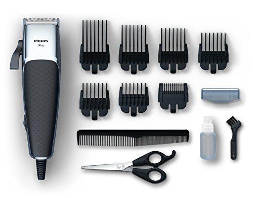 Cortadora de cabello y barba Philips HC5100 Pro Clipper con motor lineal y hojas Tip2Tip 100% acero inoxidable, 7 peines 0,5-25 mm, cable de 280 cm
