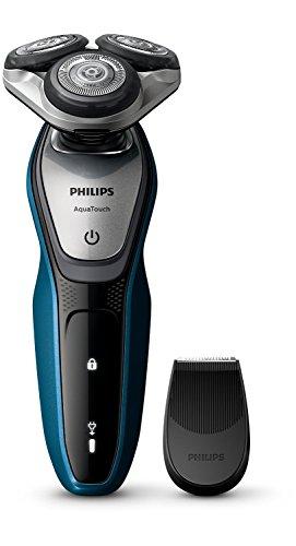 Afeitadora eléctrica Philips AquaTouch S5420 / 06 Aquatec Wet & Dry con hojas MultiPrecision, cabezal flexible de 5 vías y sistema de protección de la piel ...