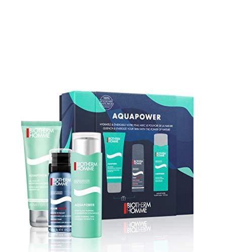 Siete hidratante Biotherm Homme Aquapower (Gel hidratante 75 ml + Gel de ducha 75 ml + Espuma de afeitar 50 ml)