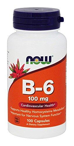 VITAMIN Now Foods Vitamina B-6 100 mg 100 cápsulas NOW0456