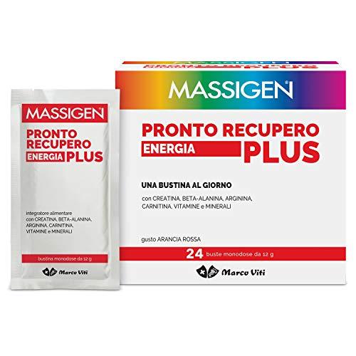 Massiges Vvmi062 Pronto Recovery Energía Plus - Suplemento con sales minerales, vitaminas, carnitina, arginina, beta-alanina - 400 G