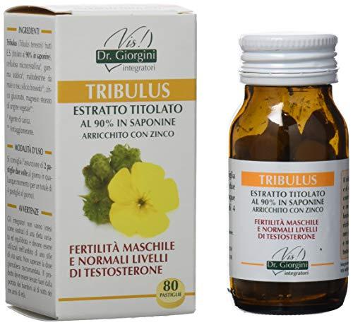Suplemento alimenticio Dr.  Giorgini, extracto de tribulus de hierbas monocomponentes titulado al 90% en saponinas enriquecidas con pastillas de zinc - 40 g