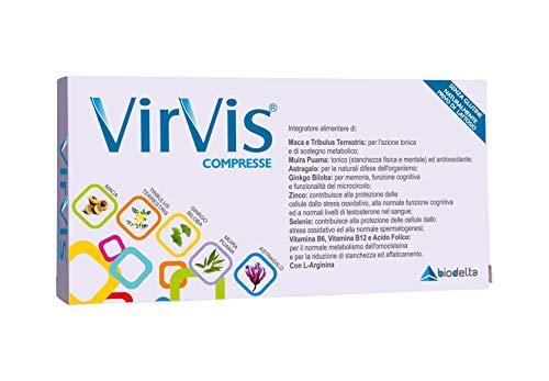 Comprimidos de suplementos alimenticios VIRVIS® de Maca, Tribulus Terrestris, Ginkgo Biloba, Astragalus, Muira Puama, Zinc, Selenio y Vitaminas (30 comprimidos) - con ...