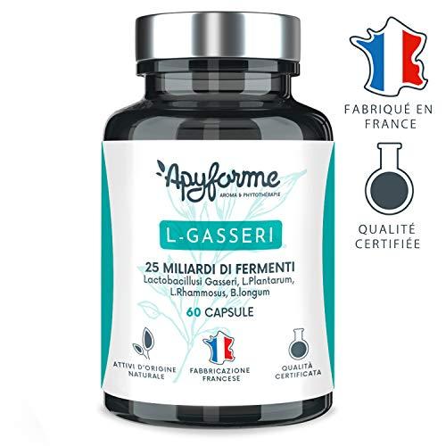 Fermentos lácticos - Probióticos Lactobacillus Gasseri - 25.000 millones de UFC - Cápsulas gastro-resistentes - 100% FRANCÉS - 30 días 60 cápsulas - Fabricado en Francia por ...