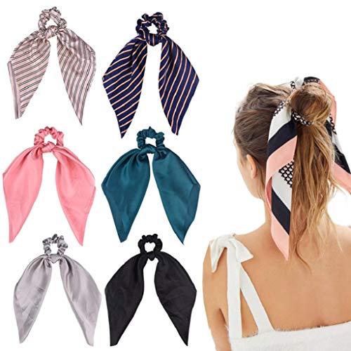 DRESHOW 6 piezas Bandas para el cabello Estilo Boho Criss Cross Turban Headband Head Wrap Yoga Accesorios para entrenamiento Diadora para mujeres solteras