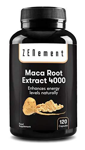 Extracto de raíz de Maca peruano, los Andes, 120 cápsulas |  energía, rendimiento deportivo, memoria, libido, sistema inmunitario, equilibrio hormonal |  100% ...