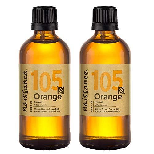 Aceite esencial Naissance Sweet Orange - 100% puro, vegano, libre de transgénicos - 200 ml (2x100 ml)
