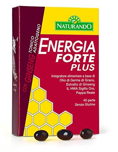 Naturando Energía Forte Plus 40 Perlas energéticas naturales para contrarrestar la fatiga física y mental