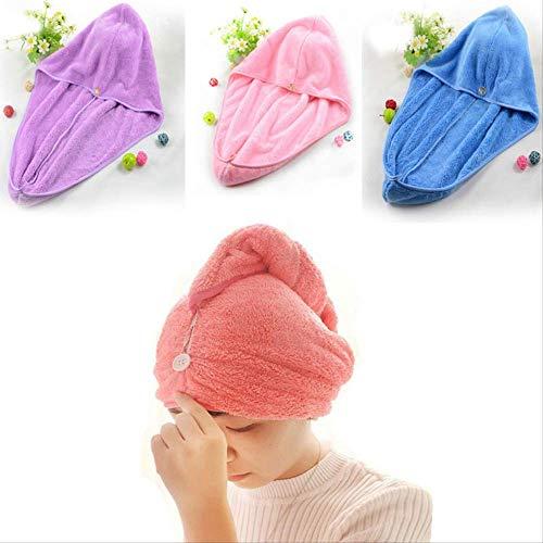 Turbante absorbente ZLKMQ para secar el pelo, gorros de ducha suaves para mujeres, toalla de pelo anti encrespamiento, toalla de turbante ...