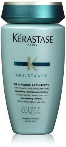 Kerastase Resistance Bain Force Arquitecto, champú reparador para cabellos debilitados y dañados, 250 ml
