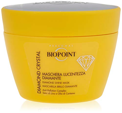 Biopoint Diamond Crystal Mascarilla brillo instantánea, nutre, hidrata y defiende el cabello de la contaminación dando brillo extra - 200 ml