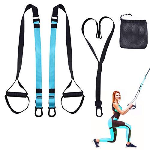 Valk Suspension Training, juego de entrenamiento para entrenador de suspensión, con anclaje de la puerta y cinturón de extensión, ajustable para la flexibilidad, el hogar, los viajes y ...