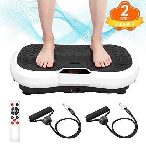 Placa de vibración ENKEEO, masaje muscular oscilante, entrenamiento doméstico, adelgazamiento, motor silencioso LCD, 99 niveles de intensidad y 5 programas integrados ...