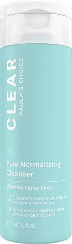 Paula Choice Clear Clear Cleansing Gel - Limpieza del maquillaje y elimina los grandes y poros grandes - con ácido salicílico y pantenol - Todos los tipos de piel - 177 ml