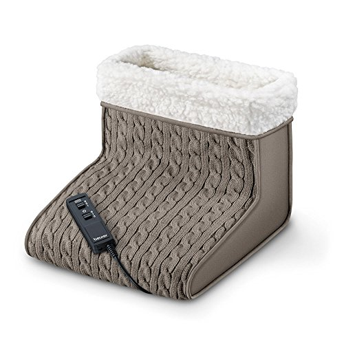 Beurer FWM 45, calentador de pies de felpa con función de masaje