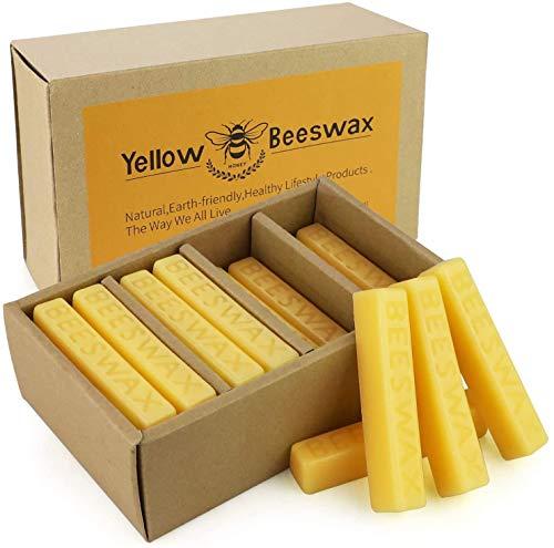Paquete de cera de abeja natural puro de 720 g con 24 bloques de cera de abejas perfectos para cosméticos, velas de bricolaje, cremas, ungüentos, juegos de jabón, toallas de cera ...