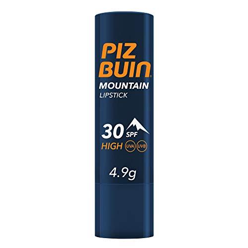 Piz Buin, pintalabios de montaña, alta protección 30 SPF, filtro solar UVA / UVB, pintalabios de montaña, 4,9gr