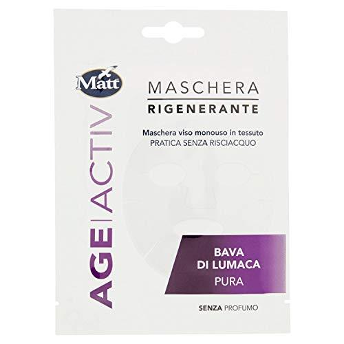 Mat - Tela desechables con máscara regeneradora Age Activ - Práctica y sin aclarado - Baba de caracol puro - 1 máscara