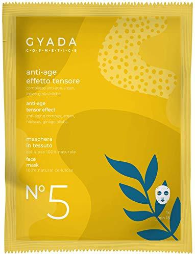Máscara de tejido Gyada Cosmetics nº 5 Efecto antiedad / tensor, certificado Bio-15 Ml
