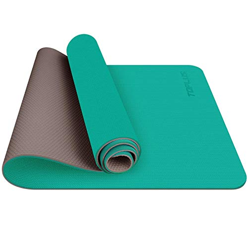 Estera de yoga TOPLUS, esterilla de yoga acolchada antideslizante Fitness Pilates y gimnasia con correa de TPE, 180 x 60 cm