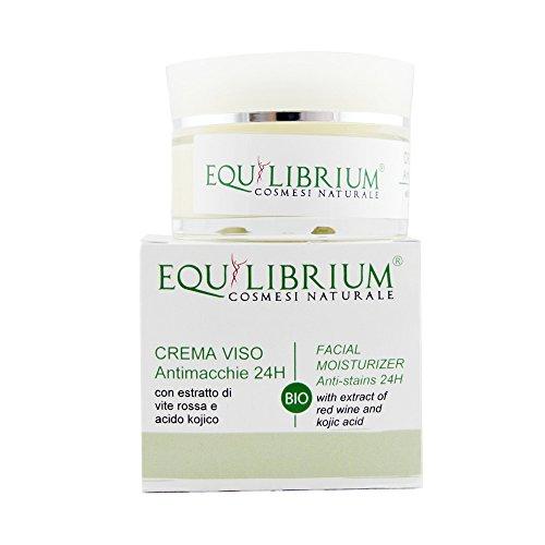 EQUILIBRIO - COSMÉTICOS NATURALES Crema facial anti-mancha oscura 24H 50 ml BIO con Viña roja y ácido kójico