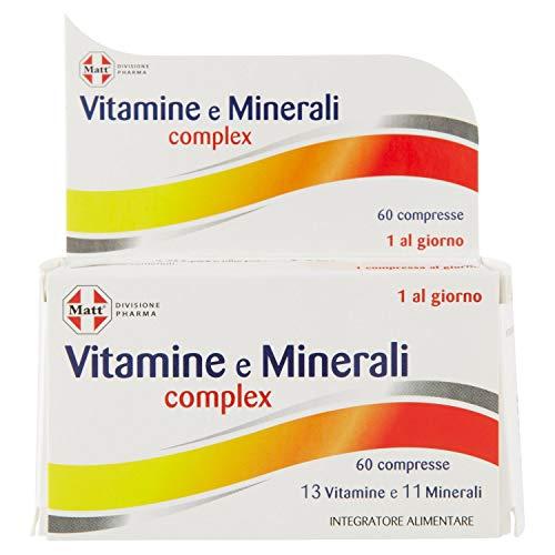 Complejo de vitaminas y minerales de la división Matt Pharma, suplemento multivitamínico y multimineral - 60 comprimidos, 79,8 g