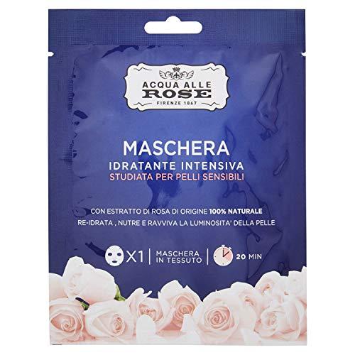 Máscaras hidratantes intensivas con agua de rosas, piel sensible, 25 ml