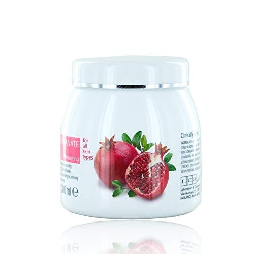 Clivia - Crema facial para la luz con jugo de granada Crema hidratante para la mujer para la mujer, limpia suavemente y perfuma la cara, apta para todos los tipos de piel ...