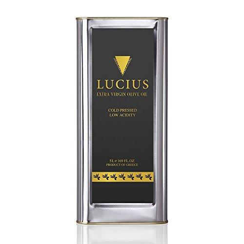 Aceite de Oliva Virgen Extra Lucius - 5 Litros - Aceite de Oliva Delicado y Perfumado - Koroneiki Monovarietat, 5.000 Mililitros