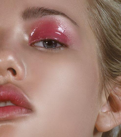 Maquillaje brillante para los ojos