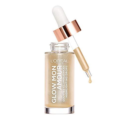 Marcador facial L'Oréal Paris Glow Mon Amour, caída líquida, tez brillante y natural, brillante marfil