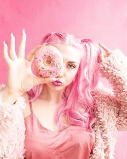 cabellos rosados