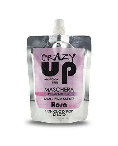 Crazy Up Semi-Permanente Máscara para pintar sin amoniaco para cabellos - Rosa - 200 ml