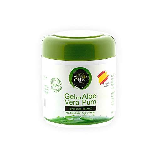 Gel Aloe Vera - Gel Hidratante Aloe Vera Crema Aloe Vera, 100% Islas Canarias 500 ml.  Crema reparadora del cuerpo / cara / manos para la piel agrietada.  Cream Man - Mujer por ...