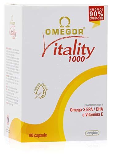 Omega 3 OMEGOR® Vitality 1000-90% de Omega-3 TG.  Certificado Ifos desde 2006. 800mg EPA y DHA por cápsula en proporción 2: 1. Estructura mínima 90% triglicéridos y ...