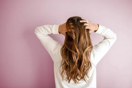 Champú seco para los cabellos largos