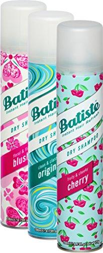 Champú seco Batiste, 3 Beauty Mix, para todo tipo de cabello, paquete de 2 + 1 (3 x 200 ml)