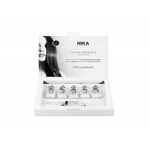 Viales de tratamiento profesional 5x20 ml efecto botox que aportan brillo y nutrición al cabello Nika caja de cristales elevadores 5x20ml con complejo renacido