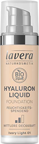 Lavera Hyaluron Liquid Foundation (Tone Ivory Light 01) - 30 ml.