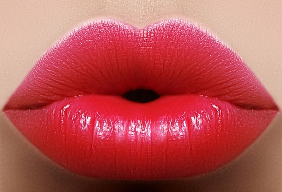 Labios rojos naturales