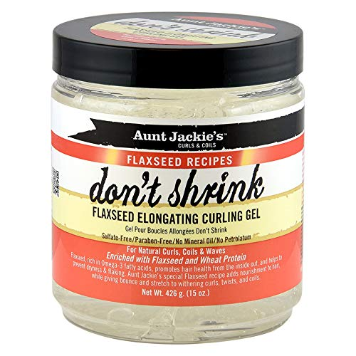 Tonta Jackie 's' Don 't Shrink': gel para el pelo de lino, para relajarse y cuidar los rizos.  426 g