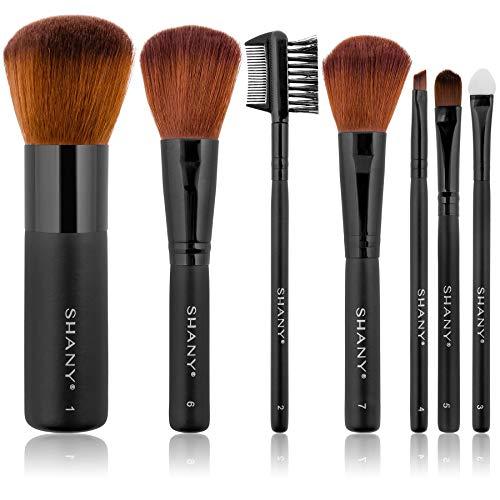 Shany Cosmetics: juego de 7 cepillos de maquillaje de calidad profesional, cerdas de visón, con estuche