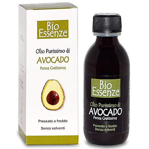 Esencias Bio - Aceite de aguacate puro - 125 ml |  Prensado en frío, sin disolventes (Persea gratísima)