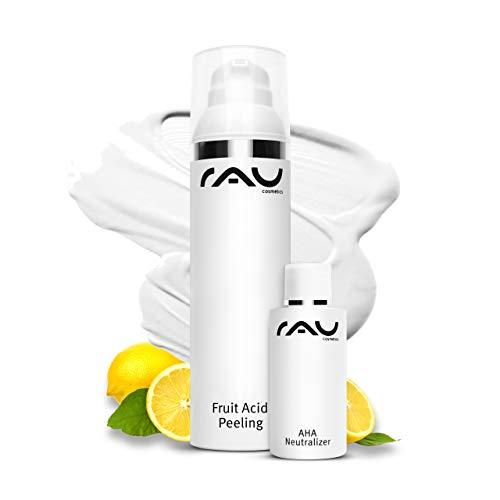 RAE Peeling ácido de frutas 100 ml - Mejor piel anti-envejecimiento para la cara - Exfoliante con ácido mandélico, lactobionic, salicílico y láctico - Exfoliante suave