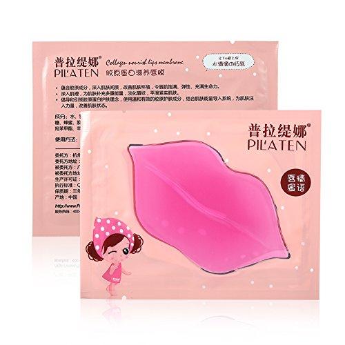 Máscara de labios, 16 unidades Pilates Crystal Pink Collagen Beauty, hidratante, exfoliante, hidratante, máscara de labios, mejora las líneas de labios Esencia hidratante ...