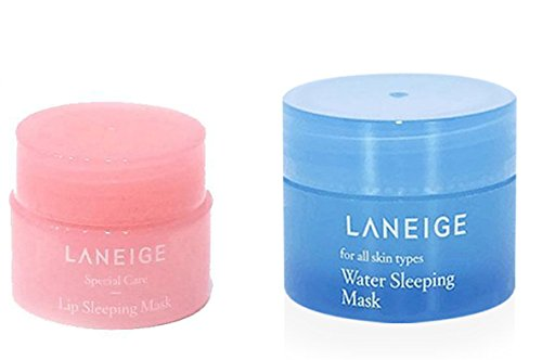 Laneige máscara nocturna de 15 ml y máscara nocturna de 3 g de labios